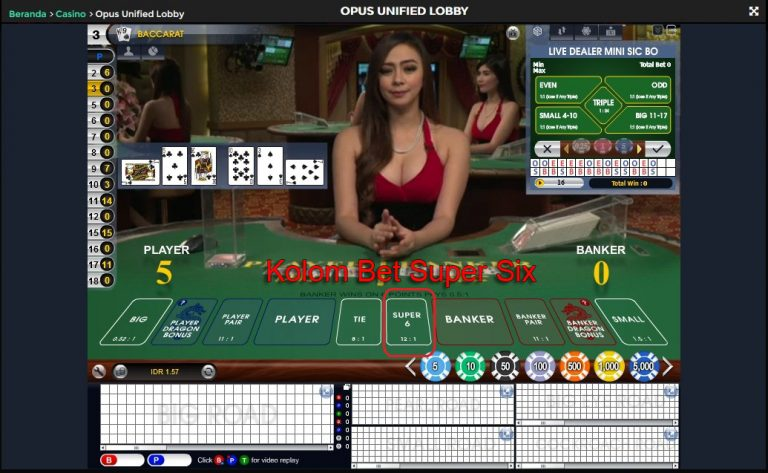 baccarat super six 6 table - situs agen judi live dealer casino online terpercaya - sexy dealer girl