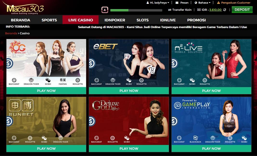 lobby games live casino macau303 - situs agen judi live casino online terpercaya di indonesia