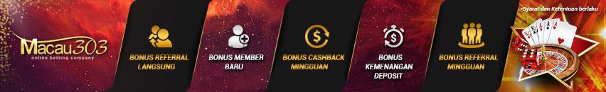 bonus promosi freebet 100% gratis tanpa deposit - Situs Agen Judi Bola Online Terpercaya - MACAU303